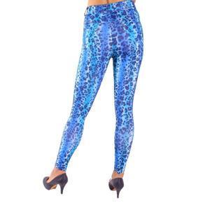 Kalhotové legíny Leopard modré