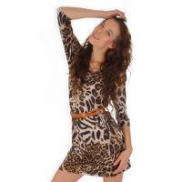 Dlouhé leopardí šaty Gréta