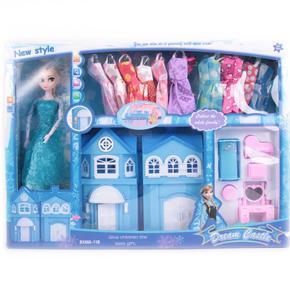 Panenka Elsa s šaty a zámkem