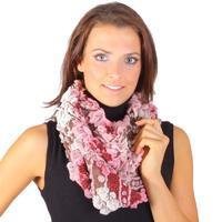 Růžový zimní šátek Melissa D1