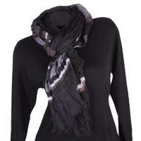 Moderní šátek Lilia černý C3