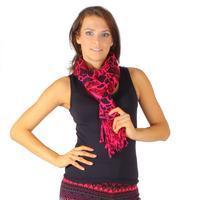 Luxusní široký šátek Nena růžový C2