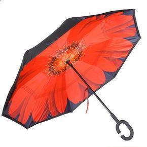Obrácený deštník Florenc červený