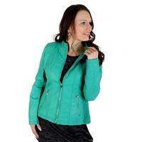 Koženková bunda Sandra zelená