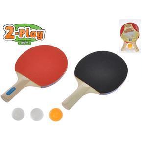 Sada na stolní tenis 2 pálky a 3 míčky Honza