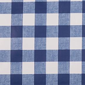 Omyvatelný ubrus motiv Kostka metráž modrý