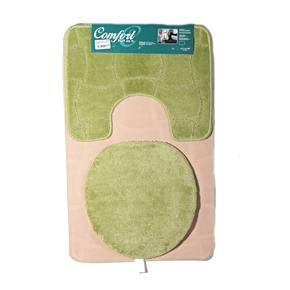 Koupelnové předložky Sybil zelené set 3ks