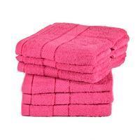 Jednobarevný froté ručník Tesa růžový