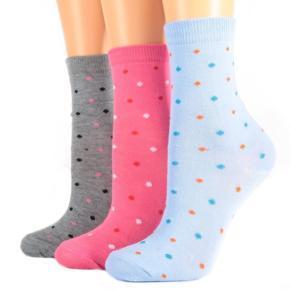 Dívčí bavlněné ponožky M8a R s puntíky