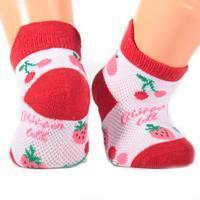 Kojenecké ponožky červené S8g
