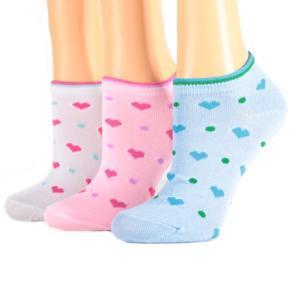 Dívčí nízké ponožky se srdíčky M5b W