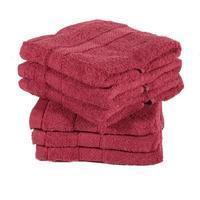 Jednobarevný froté ručník Tesa bordó
