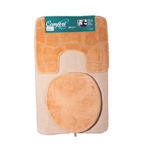 Koupelnové předložky Sybil oranžové set 3ks
