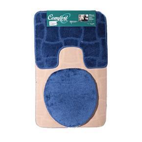 Koupelnové předložky Sybil modré set 3ks
