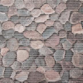 Gumová koupelnová rohož 65cm Kameny šedé