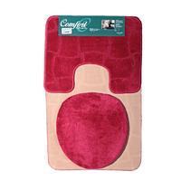 Koupelnové předložky Sybil červené set 3ks