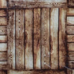 Omyvatelný ubrus motiv Dřevo metráž
