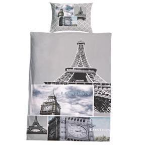 3D dvoulůžkové povlečení s motivem Paříže