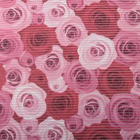 Gumová koupelnová rohož 65cm Růže