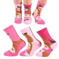 Dívčí ponožky s Mášou a medvědem P8a R