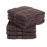 Jednobarevný froté ručník Tesa hnědý