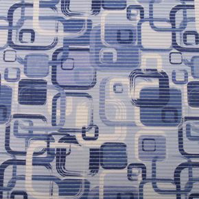 Gumová koupelnová rohož 80 cm Kostka modrá