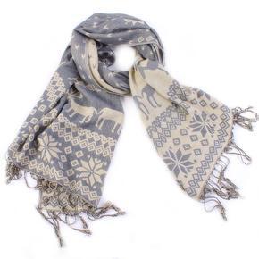 Designový šátek Noel šedý B5