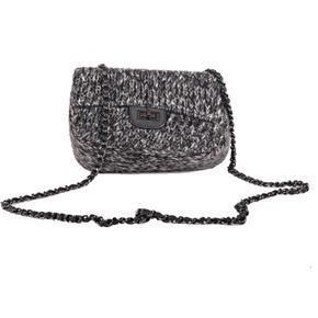 Černá vlněná mini kabelka Silva 3E