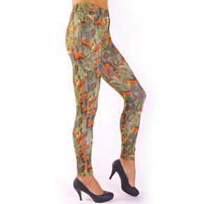 Kalhotové legíny Jaspin se vzorem