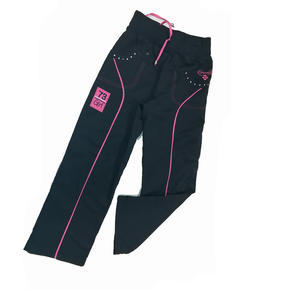 Dívčí mírně vyteplené šusťákové kalhoty Ola - 134