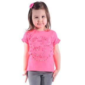 Neonově růžové tričko Love
