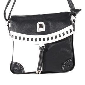 Černobílá crossbody kabelka Patricia