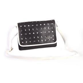 Trendy kabelka Belli černobílá 6C