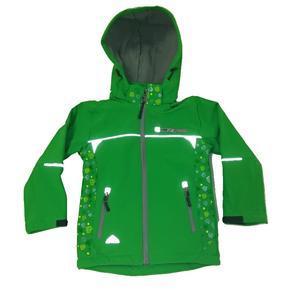Dětská softshellová bunda Bara zelená