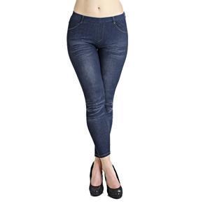 Kalhotové legíny Alexandra modré