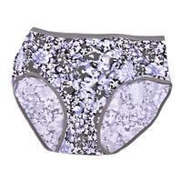 Dámské květované kalhotky Mery šedé