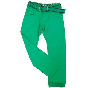 Plátěné chlapecké kalhoty Julius zelené