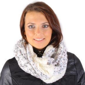Bílý pletený nákrční Hayley G1