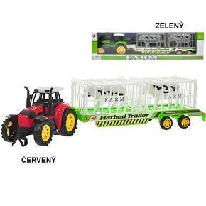 Traktor s vlečkou se zvířátky 50cm Radim