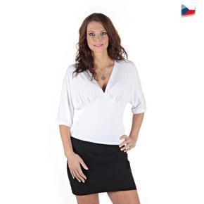 Bílé elegantní tričko Lessy