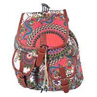 Vzorovaný dámský batoh Kamil bílý
