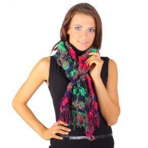 Módní zimní šátek Valery růžový E4