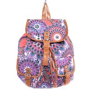 Vzorovaný dámský batoh Igor fialový 2A