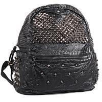 Stylový černý batoh Tara zdobený cvočky 2A