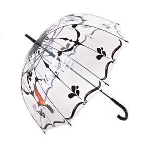 Průhledný deštník Luky černý
