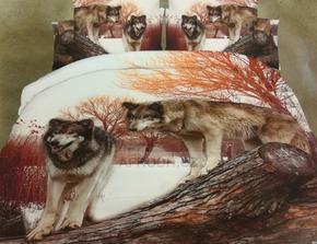 Dvoulůžkové povlečení s vlky Bingo
