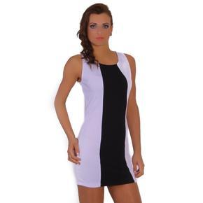 Šaty Debora černobílé