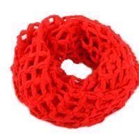 Červený kruhový šátek Karol C2