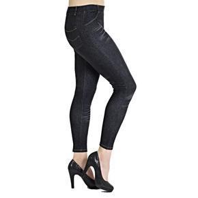 Kalhotové legíny Alexandra černé