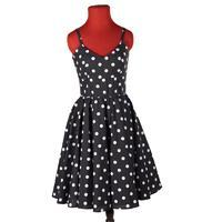 Moderní dámské puntikaté šaty Retro